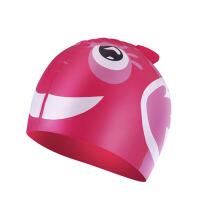 男童女童硅胶泳帽  防水护耳可爱卡通游泳帽子 儿童泳帽
