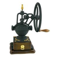 台湾BE9377古典大铁轮咖啡手摇磨豆机 咖啡豆研磨机 收藏送礼佳品