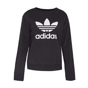 Adidas阿迪达斯 2017新款女子三叶草运动休闲针织卫衣套头衫 AY8117