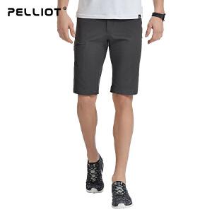 【满299减200】法国PELLIOT户外速干裤男女 夏季薄款快干裤轻薄短裤登山运动裤子
