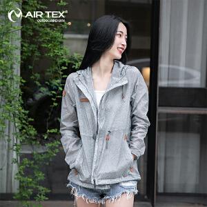 AIRTEX/亚特 纯色印花翻盖口袋 燕尾下摆皮肤衣女款 英国时尚户外