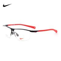 NIKE耐克运动眼镜框 商务超轻近视眼镜架半框男女款NIKE6055/2