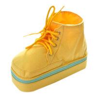 韩国创意纯色简约马丁靴子帆布多功能笔袋 马卡龙鞋子笔盒