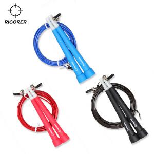 准者专业竞速跳绳 健身速度万向轴承钢丝快速跳绳 可调节竞技跳绳