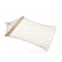 户外木网状粗棉吊床   带棍带杆粗秋千    棉线吊床