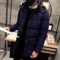 冬季男式棉服中长款休闲连帽棉衣外套好看有型