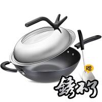 爱仕达炒锅ASD 32CM锈不了炒锅炒菜锅 铁锅锅具WG8332QN 送锅铲