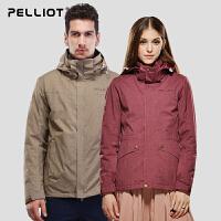 法国伯希和户外冲锋衣 男女三合一西藏防水透气秋冬情侣冲锋衣