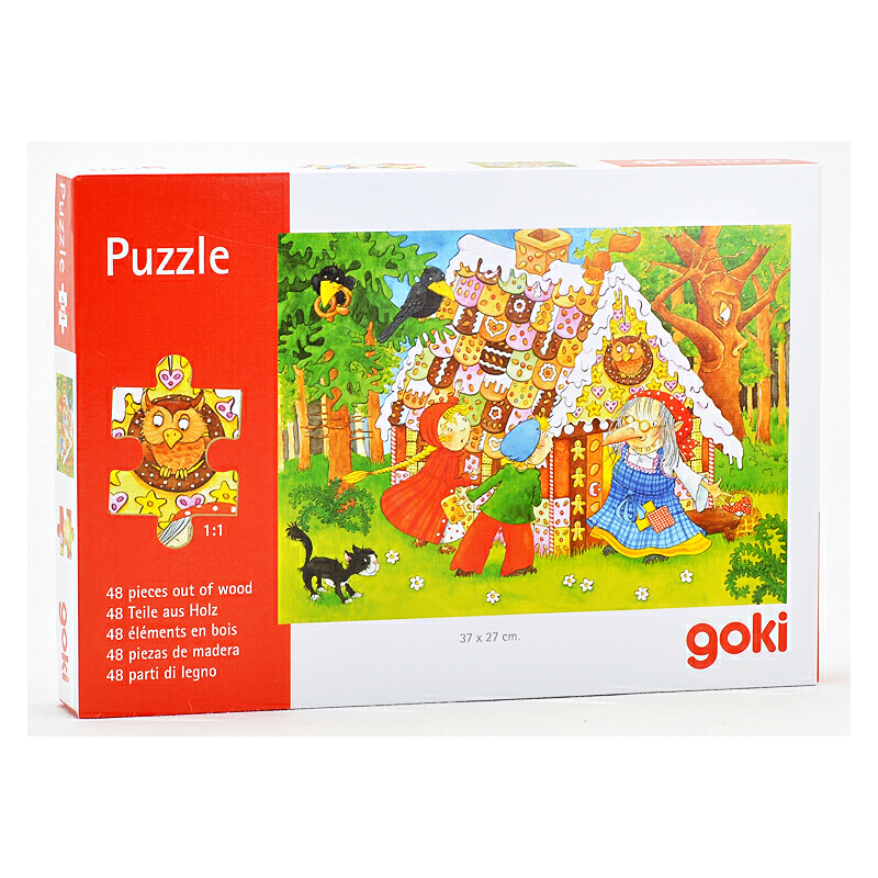 幼儿园儿童拼图礼物玩具宝宝益智男女孩3456岁木制拼板_巫婆饼干屋