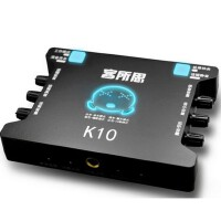 客所思XOX K10手机唱吧 平板 电脑 通用USB声卡 K歌录音外置声卡
