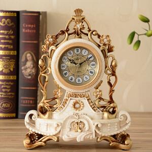 乐唯仕丽盛雅典娜镂空雕花欧式复古式树脂卧室座钟