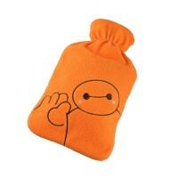 橡胶热水袋  冲注水暖水袋  充水厚暖手宝 可拆洗暖手袋