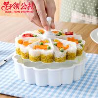 白领公社 寿司盒 家用米饭模具儿童学生饭团寿司便当带铲子工具创意家居厨房用品烘焙蛋糕模具