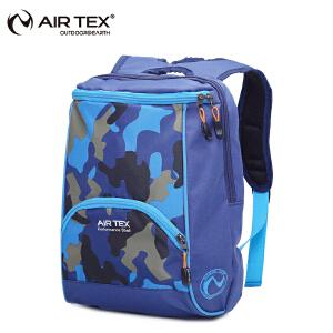 AIRTEX/亚特 抗撕裂防泼水 双拉链迷彩学生双肩包 英国时尚户外