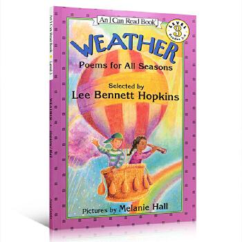 英文原版绘本Weather: Poems for All Seasons天气:季节的诗歌 I can read 3阶段绘本图画故事书汪培�E推荐书单 富有韵律感和物理性