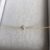 14K包金注金保色防过敏锁骨链天然珍珠项链可调节长度颈链