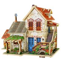 若态3D立体拼图法国农庄拼装模型木质手工DIY小屋成人儿童玩具世界风情