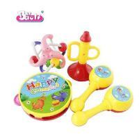 宝丽音乐互动乐趣组合摇铃喇叭/沙锤/健力球4件套儿童玩具1302