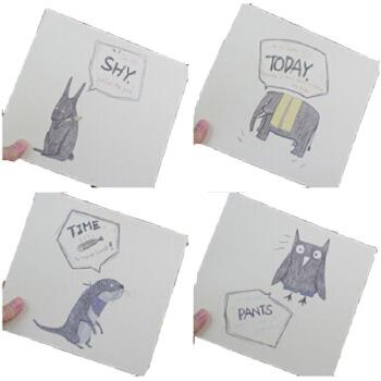 本笔记本子空白纸可爱画画手绘速写苏铁素描笔记本子