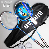 2支装萨达轻羽毛球拍双拍家庭情侣款双拍复合业余球拍