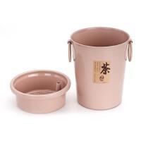 新陵 353A 功夫茶具茶道茶盘零配件 塑料桶茶水桶茶渣桶杂物桶 颜色随机