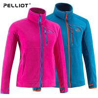 法国PELLIOT/伯希和  户外抓绒衣女 保暖休闲开衫加厚外套抓绒衣冬季