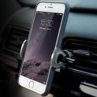 沿途车载手机支架 汽车出风口通用空调口创意车用导航多功能手机座 灰色