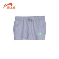 贵人鸟女运动短裤夏季新款透气健身跑步裤针织纯棉三分裤女子热裤