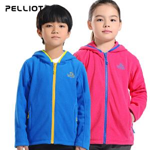 【折上再减】法国PELLIOT/伯希和 户外抓绒衣儿童 保暖休闲开衫加厚抓绒衣外套男女童