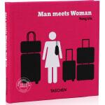 [现货]英文原版 Yang Liu: Man Meets Woman 刘扬:男女相异 华裔设计师 东西相遇三部曲系列 幽默的设计 Taschen 塔森