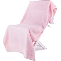 [当当自营]三利 A类加厚长绒棉 缎边大浴巾 纯棉吸水 柔软舒适 带挂绳 婴儿可用 桃粉色