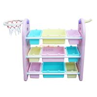 儿童玩具收纳架卡通书架小孩玩具架一体柜书柜幼儿园宝宝收纳柜