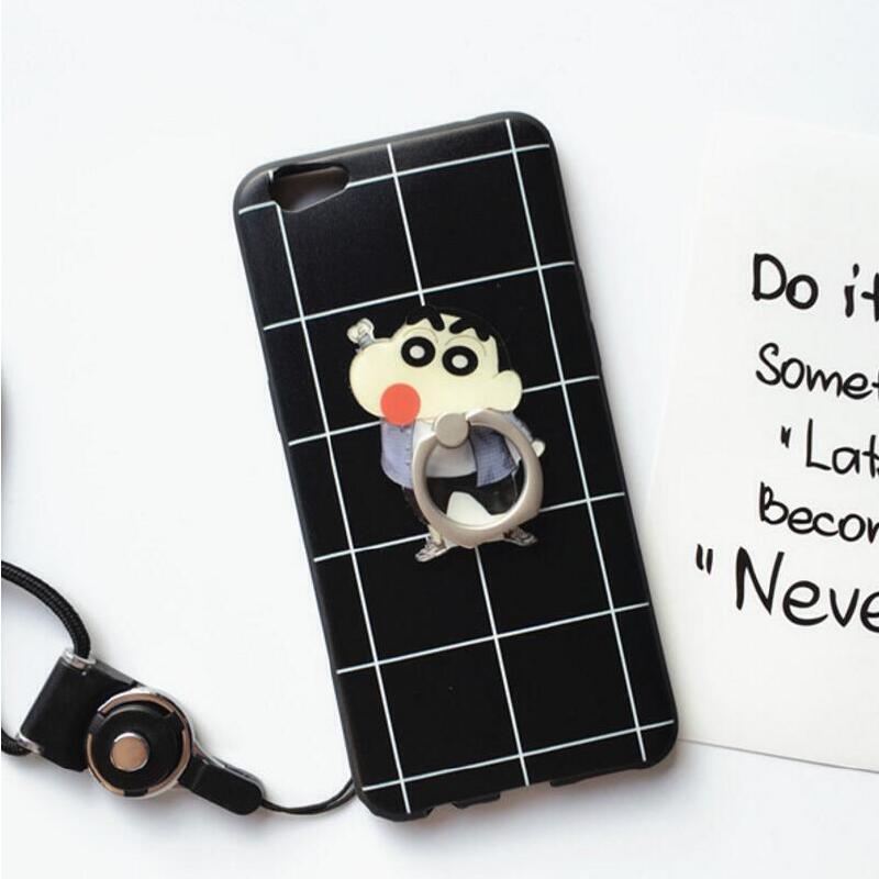 【包邮】黑白格子oppor9s手机壳日韩r9s手机套r9s指环扣硬壳r9splus